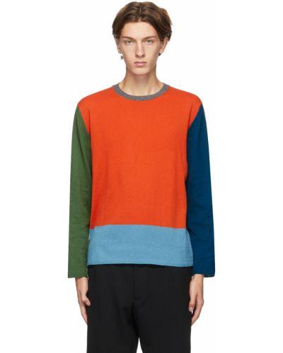 Długi sweter wełniany z długimi rękawami Comme Des Garcons Homme Deux