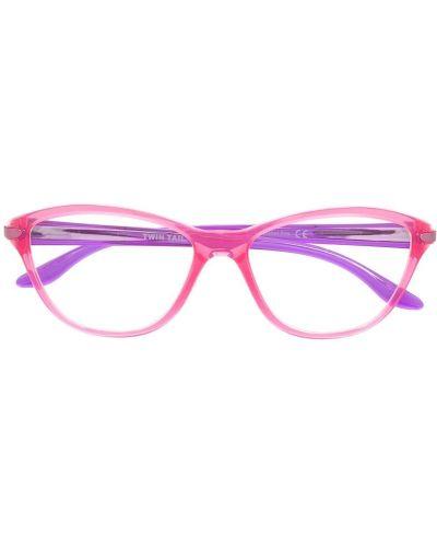 Розовые очки круглые прозрачные Oakley