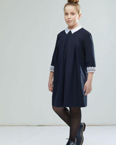 Платье с рукавами из вискозы трапеция смена