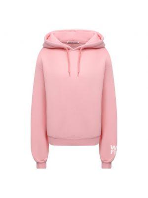 Розовое трикотажное худи Alexanderwang.t
