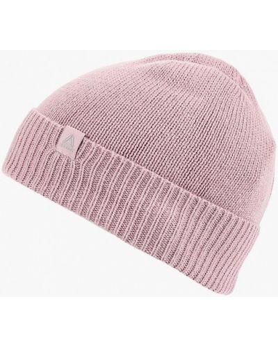 Розовая шапка осенняя Reebok
