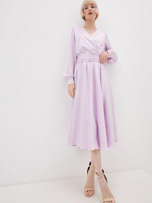 Фиолетовое платье с запахом Seam