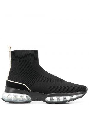 Черные носки в рубчик Carvela