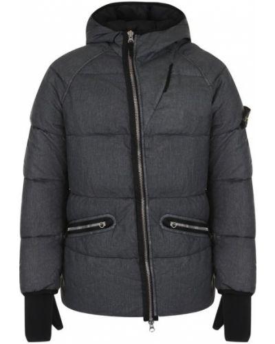 Куртка с капюшоном льняная на молнии Stone Island