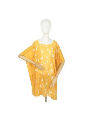 Żółty ponczo z wiskozy Art Of Polo