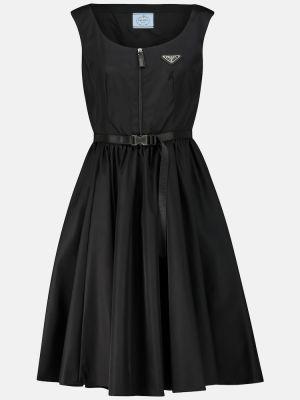 Платье миди - черное Prada
