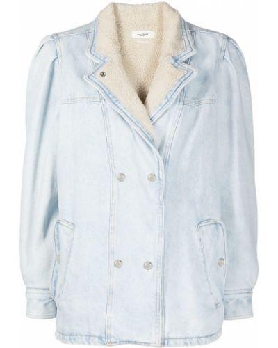 Ватная синяя джинсовая куртка с карманами Isabel Marant étoile