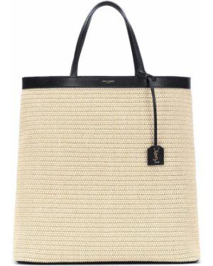 Большая сумка соломенная сумка-тоут Saint Laurent