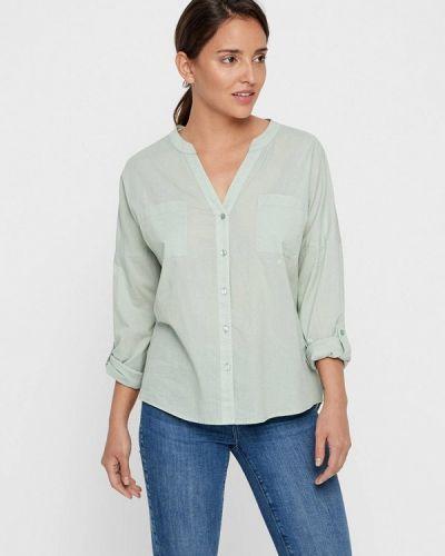 Блузка с длинным рукавом бирюзовая весенний Vero Moda