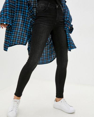 Черные зимние зауженные джинсы Adrixx