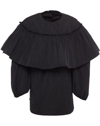 Черная шелковая блузка Simone Rocha