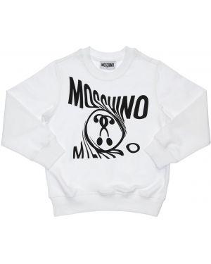 Bluza na szyi z logo Moschino
