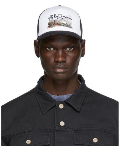 Biały czapka z daszkiem z czaszkami siatkowaty Palm Angels
