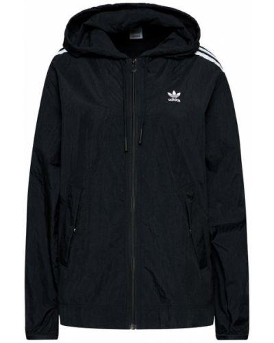 Czarna wiatrówka Adidas