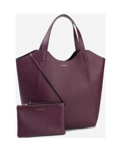 Кожаная сумка - фиолетовая Coccinelle