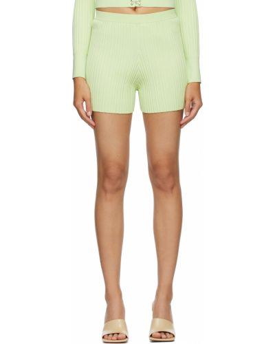 Зеленые нейлоновые шорты Dion Lee