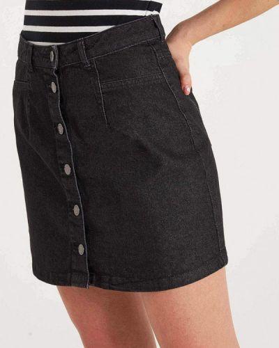 Джинсовая юбка - черная Terranova