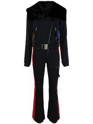 С рукавами черный комбинезон с карманами Rossignol
