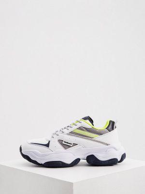 Белые кроссовки Trussardi