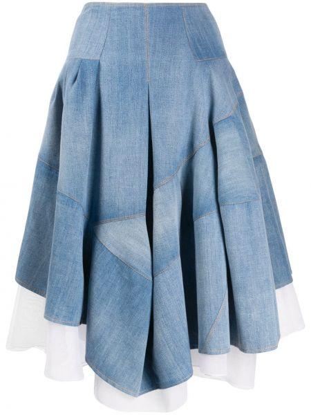 Юбка миди джинсовая с завышенной талией Ermanno Scervino