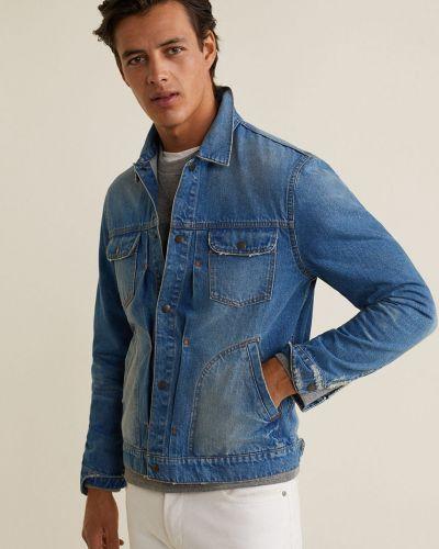 Джинсовая куртка утепленная укороченная Mango Man
