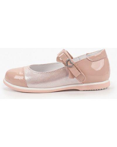Лаковые кожаные розовые туфли котофей