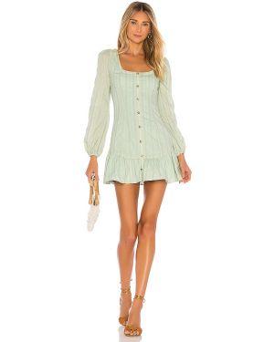 Sukienka mini z suwakiem zielona Majorelle