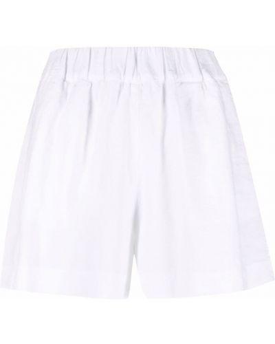 Белые шорты с карманами 120% Lino