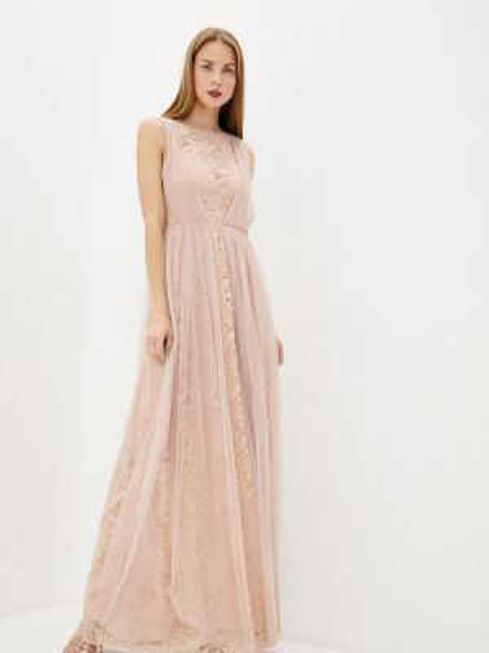 Платье прямое бежевое Soky & Soka