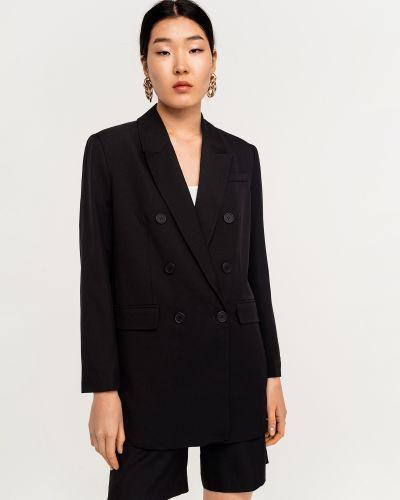 Черный удлиненный пиджак на пуговицах с лацканами Befree