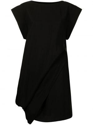 Czarna sukienka krótki rękaw Yohji Yamamoto