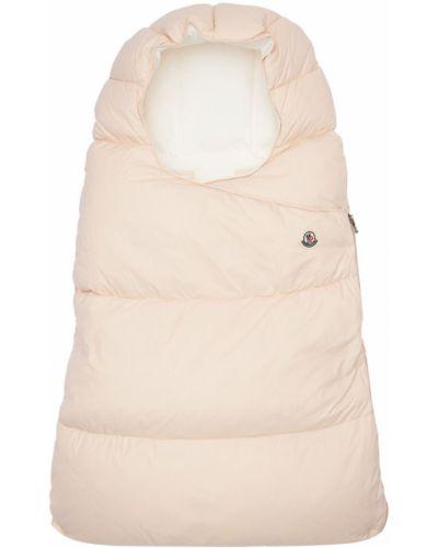 Ватная пуховая розовая стеганая сумка Moncler