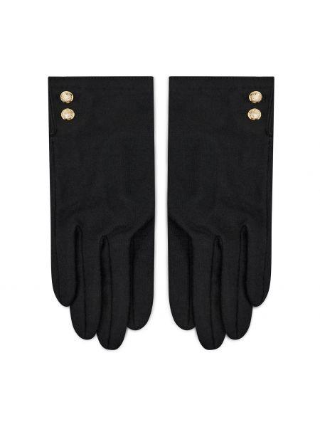 Z kaszmiru rękawiczki - czarne Polo Ralph Lauren