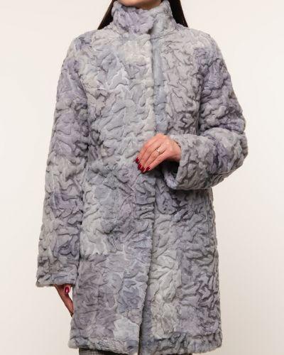 Пальто из овчины - голубое Dzhanbekoff