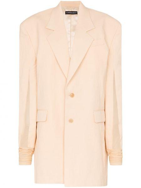 Персиковый пиджак Y/project
