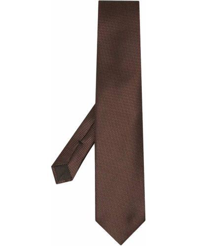 Jedwab brązowy gumka do włosów z ozdobnym wykończeniem Tom Ford
