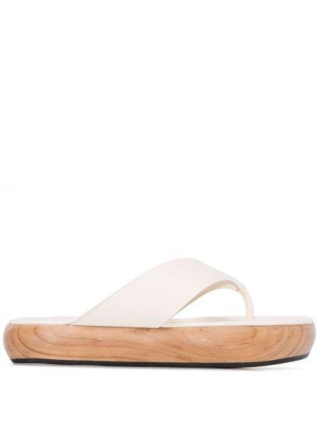 Sandały skórzany biały Neous