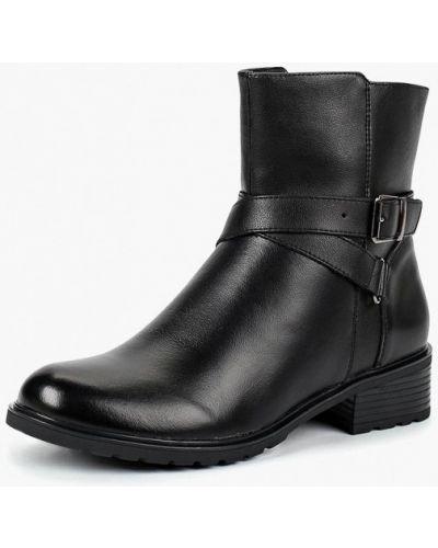 Кожаные ботинки осенние черные Alessio Nesca