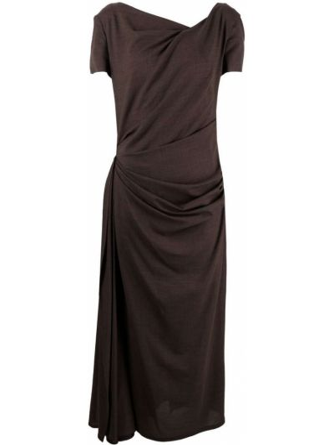 Платье мини короткое - коричневое Talbot Runhof