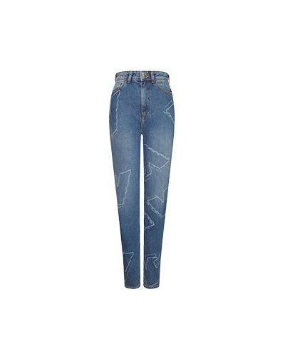 С завышенной талией синие джинсы с высокой посадкой Emporio Armani
