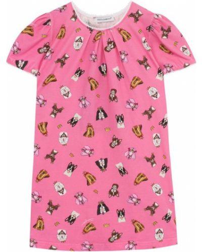 Розовая ночнушка Dolce & Gabbana