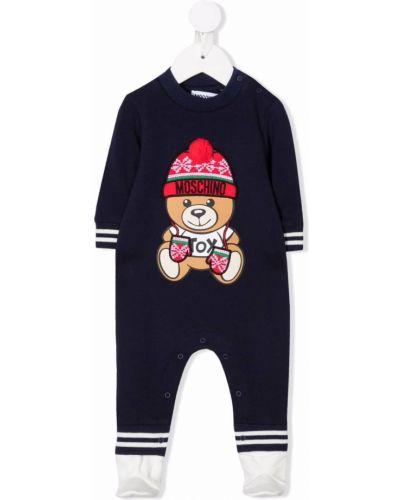 Niebieska piżama z długimi rękawami Moschino Kids