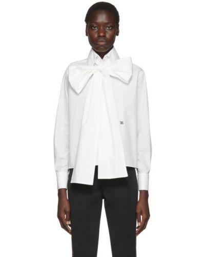 Блузка с длинным рукавом с воротником-стойкой с вышивкой Fendi
