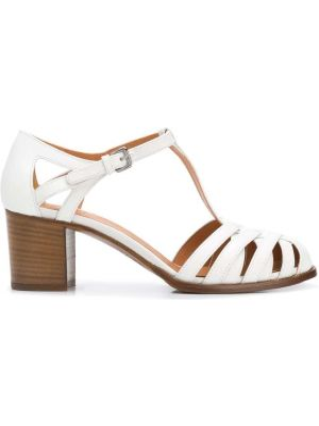 Туфли на каблуке плетеные белый Church's