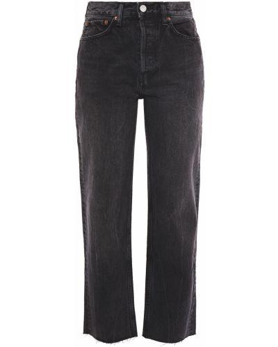 Czarne jeansy bawełniane z paskiem Re/done