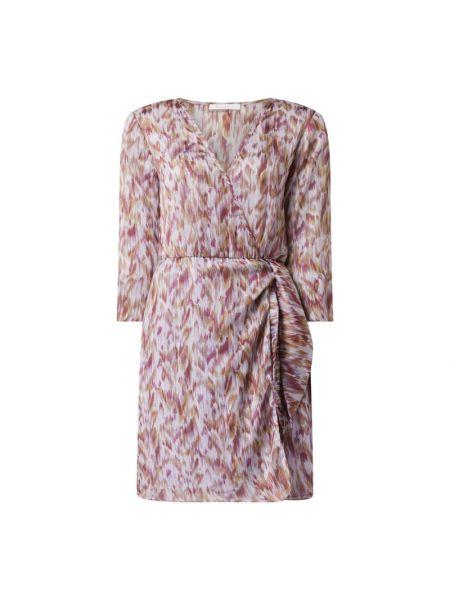 Fioletowa sukienka mini rozkloszowana z szyfonu Freebird