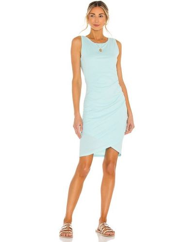 Трикотажное синее платье с подкладкой Bobi