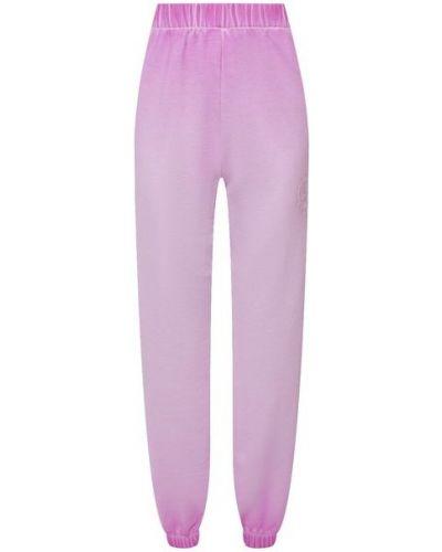 Хлопковые розовые брюки Opening Ceremony