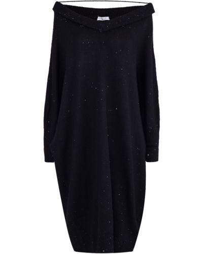 Платье с длинными рукавами кокон Brunello Cucinelli