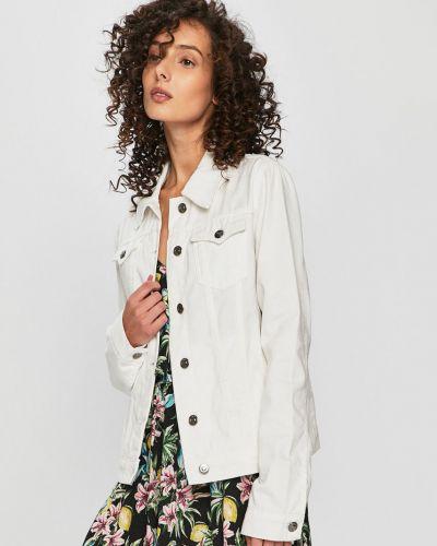 Джинсовая куртка укороченная на пуговицах Answear